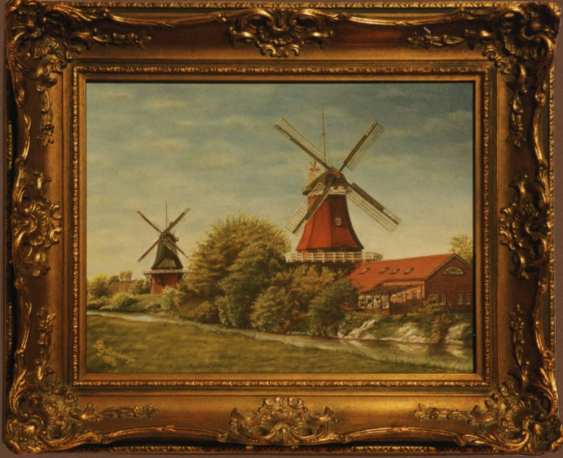Windmuehlen in Greetsiel 1997